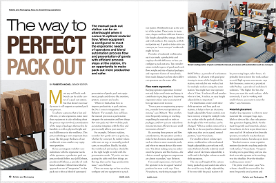 Modern Material Handling's article, The way to Perfect Pack Out