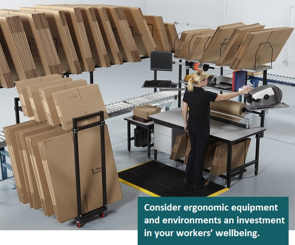 Consider ergonomic equipment and environments an investment in your workers' wellbeing.