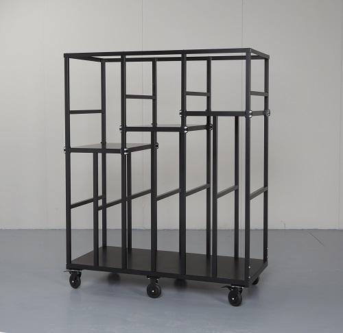 Striking Metal Shelving Design To Increase Your Storage Space: Steel Carts