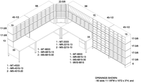 Mailroom Floor Plan Designs In Line Configurations Dehnco